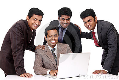 A smart Indian business team