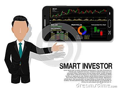 Smart investor Vector Illustration