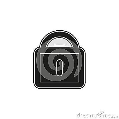 smart lock concept line icon Cartoon Illustration