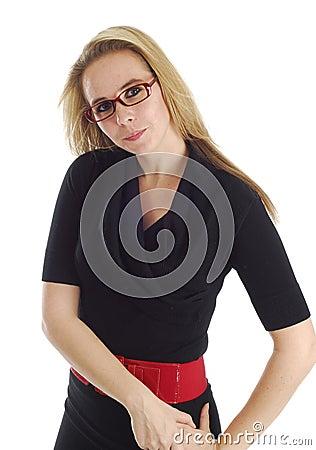 Smart looking woman