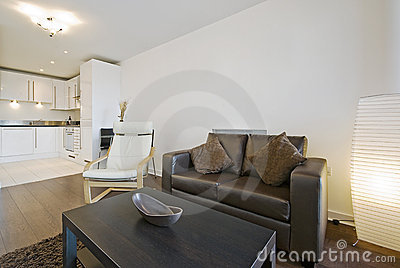 Smart open plan lounge