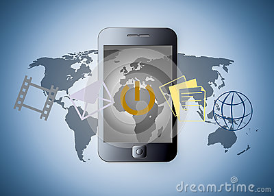 Smart phone with applications