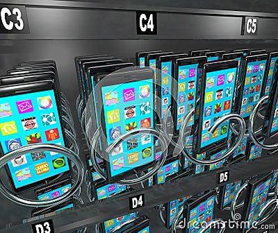 Smart Phone Cellphone Vending Machine Buying Telephone ...