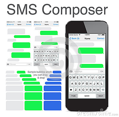 Free Smart Phone Chatting Sms Template Bubbles Royalty Free Stock Photography - 40828347