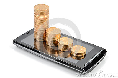 Smart phone and coin