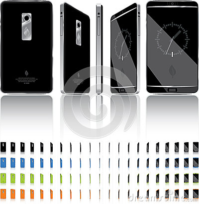 Smart Phone 3D Rotation - 21 Frames