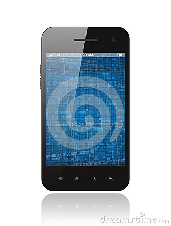 Smart phone with digital background