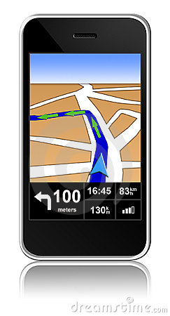 Smart-phone with gps navigator inside