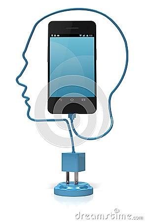 Smart Phone Head Smart