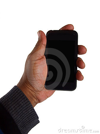Free Smart Phone In Hand Royalty Free Stock Photography - 22468307