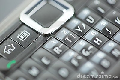 Smart Phone Keypad Qwerty Close Up