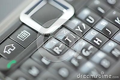 Smart Phone Keypad Qwerty Close Up