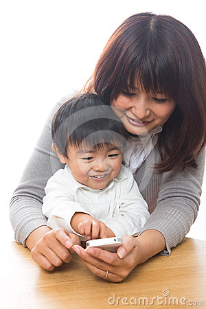 Smart phone and parent and child