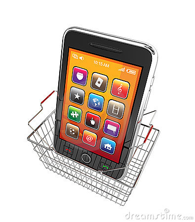 Smart phone and shopping basket