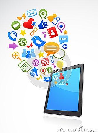 smart phone social media icons