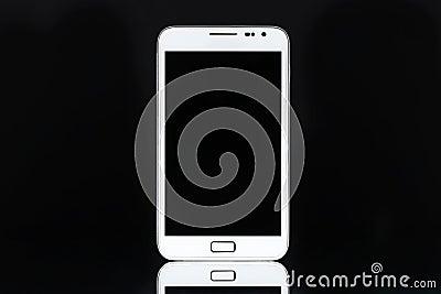 White smart phone tablet
