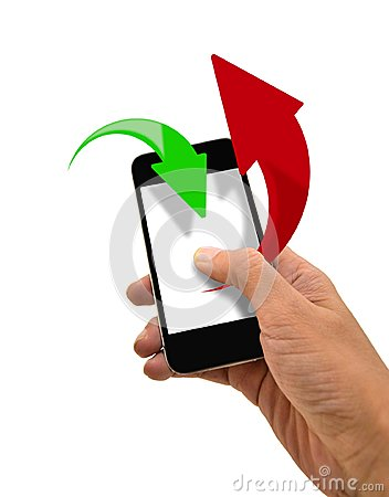 Smart Phone Upload and Download Data
