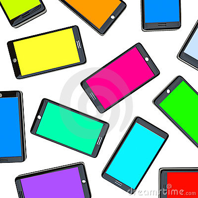Smart Phones - Array of Colored Screens