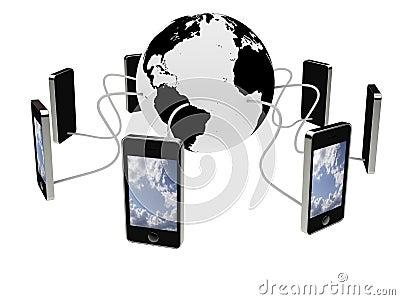 Smart phones connected