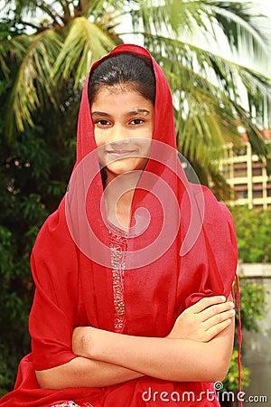 Smart Punjabi teenage girl