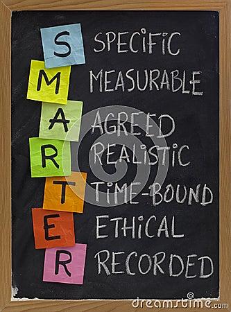 Smart (smarter) goal setting