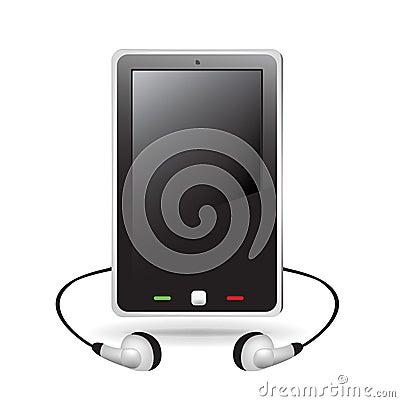 Smart telephone with headphones