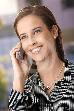 Smart woman using mobile phone