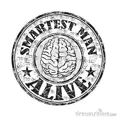 Smartest man alive stamp