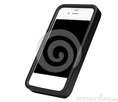 Smarthphone isolated on white