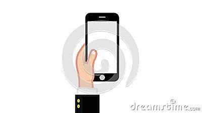 Smartphone alles Gestual mit Alpha - GESCHÄFTSMANN lizenzfreie abbildung