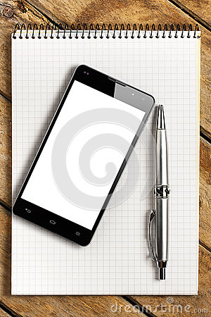 Smartphone Blank Screen Note Pad with Pen