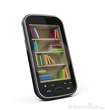 Smartphone with bookshelf