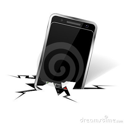 Smartphone in Crack