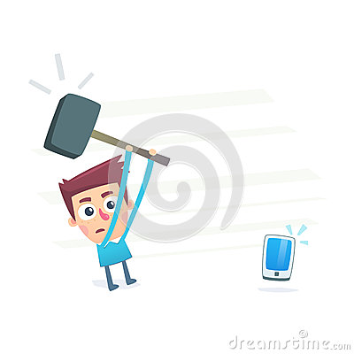 Smartphone Does Not Work Stock Photo - Image: 37031590