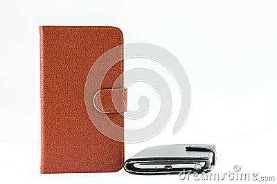 Smartphone genuine leather case cover