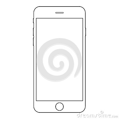 Smartphone iphone outline vector eps10. Iphone mobile phone icon. Smartphone outline vector eps10 Vector Illustration