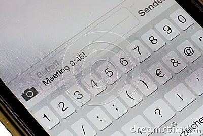 Smartphone keypad