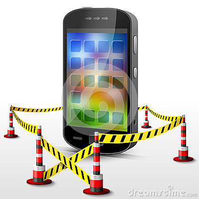 Smartphone located in restricted area