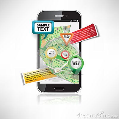 Smartphone with maps