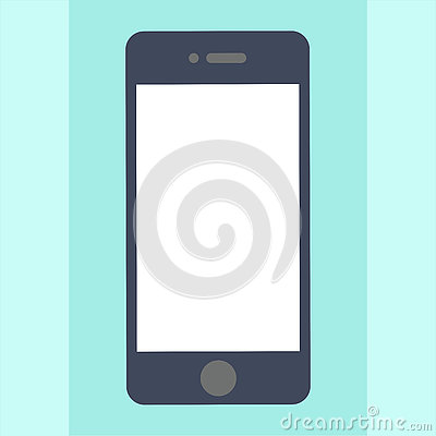 Smartphone Mobile Phone Technology Business Card Icon Flat ...