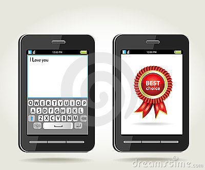 Smartphone with rosette best choice and with onscr