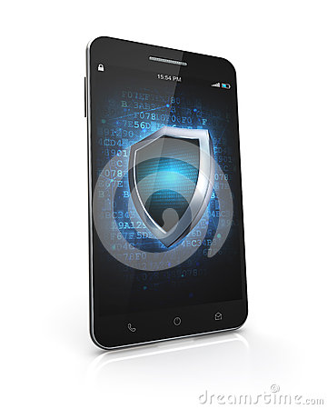Smartphone Security Screen Stock Illustration