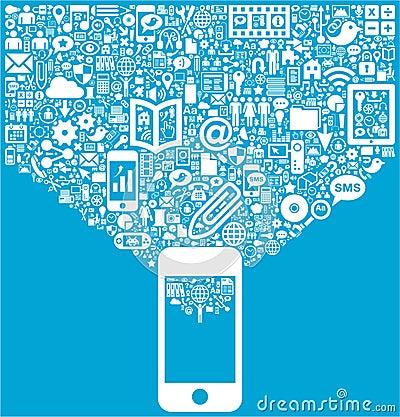 Smartphone & Social Media icons
