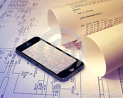 Smartphone technology Editorial Stock Image