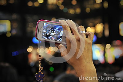 Smartphone User Editorial Stock Image