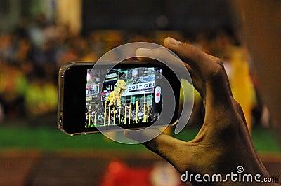 Smartphone User Editorial Image