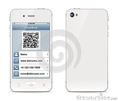 Smartphone visiting card illustration