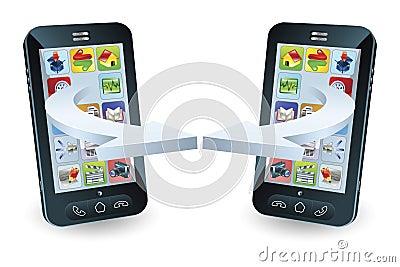 Smartphones communicating