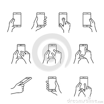 Smartphones gesture icons stock vector image 62084370 for Vector canape user manual