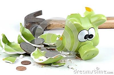 Smashed Piggybank-American